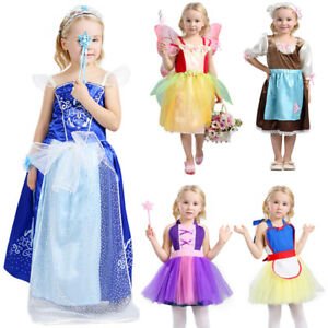 Baby Girl Cosplay Bow Dress Kids Party Wedding Pageant Lace Dresses Clothes