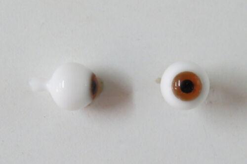 Yeux  poupée ancienne Noisette 12mm Hazel mouth blown eyes for antique doll