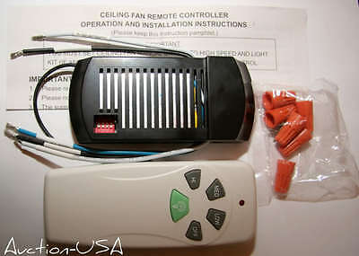 Universal Ceiling Fan Remote Control Kit For Cfl And