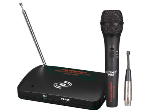 New Pyle PDWM100 Dual Function Wireless//Wired Microphone System