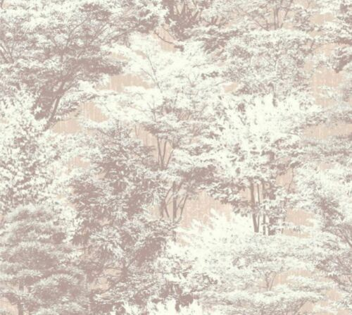 Crown Sycamore Forest Papier peint Arbres naturel floral beige taupe blanc cassé Vinyle