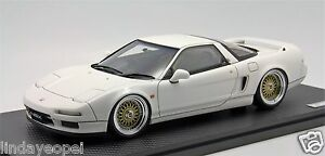 1-18-Ignition-Model-Honda-NSX-NA1-White-BBS-Wheel-Free-Shipping