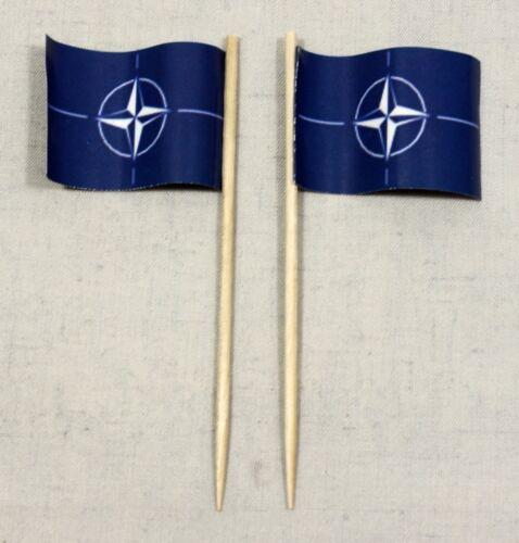 Dekopicker Papierfähnchen Käsepicker Food Flagge Party-Picker NATO 50 Stk