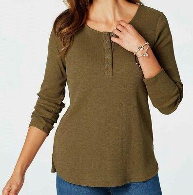 All Sizes New J Jill Wearever Beige Split Hem Pullover Top