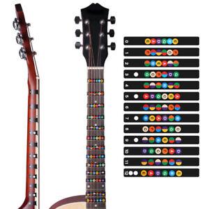 Gitarren-Griffbrett-Note-Aufkleber-Griffbrett-musikalische-Skala-Karte-Aufkl-ZD