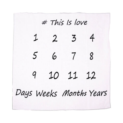 Baby Infant Days Monthly Years Milestone Blanket 100/% Cotton