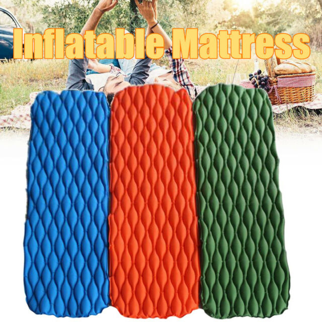 Ultralight Inflatable Mattress Mat Outdoor Camping Tent Sleeping Pad 190x65x5cm