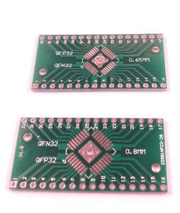 SMD Adapterplatine QFP LQFP TQFP32 mit 0,8mm//0,65mm  auf DIP32 FR4.