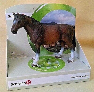 Toys & Hobbies Objective Schleich Horse Hanoverian Stallion New 13649 Brown Farm Life Male 4 1/8 Inch.