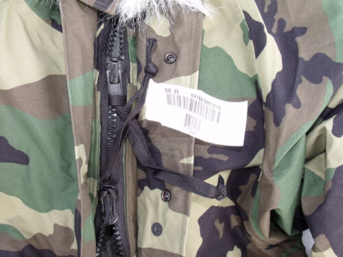 Woodland Goretex US Army Cold Wet Weather Gen 1 ECWCS Parka Jacket XLR XLL