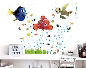 Details zu Wandtattoo Fisch Nemo Dory Aquarium Wandaufkleber Kinderzimmer  Badewanne 3xA4