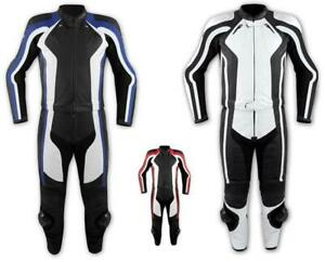 Leather Suite Motorcycle Racing Motorbike Jacket Trousers CE Armored All Sizes