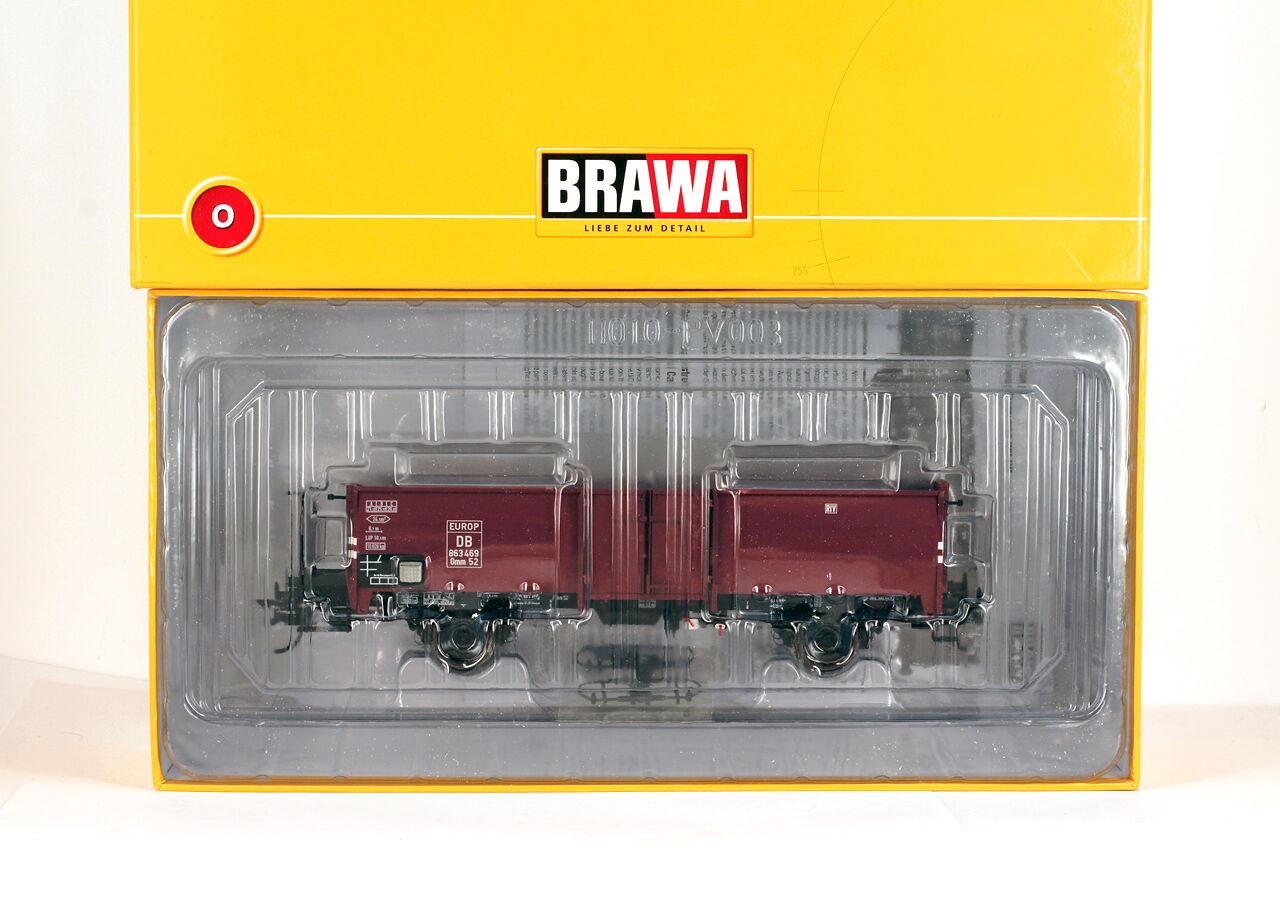 BRAWA 37001  0 O GAUGE OFFENER GUTERWAGEN Omm52 der DB Betriebs-Nr. 863 469 EUR.