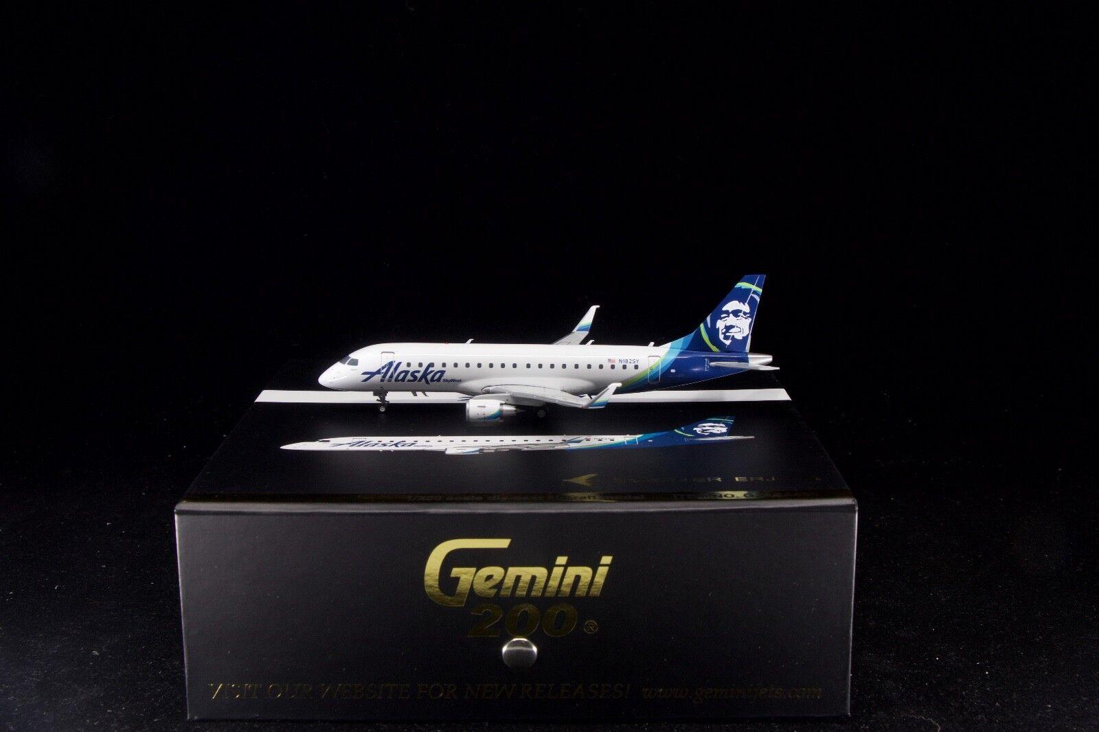Gemini jets 1   200 alaska airlines erj-175 n182sy