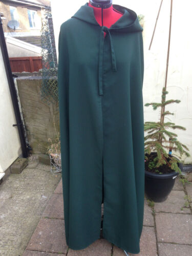 pointy hooded cloak  bottle green   more colours available C39