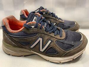 Detalles de New Balance 990V4 Atletismo Mujer Zapato Talla 7 Azul W990NV4