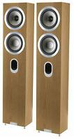 Tannoy Revolution Signature Dc4t Speakers Light Oak Pair Rrp $2999