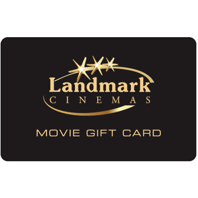 Landmark Cinemas Gift Card $25, $50, or $100 - Fast email delivery