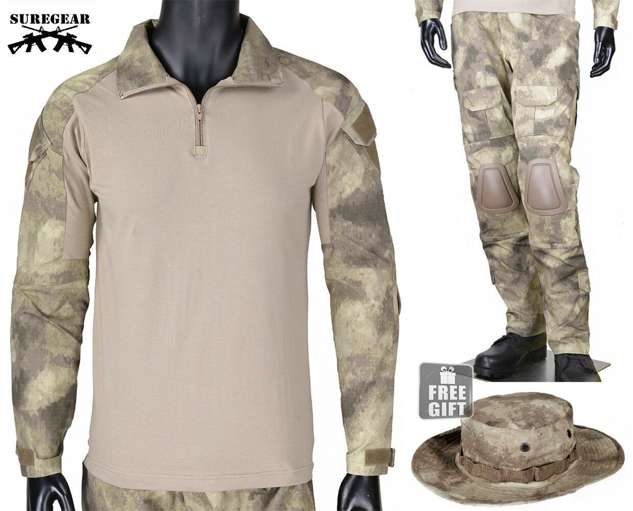 A-TACS AU Gen3 G3 Combat Suit Shirt Pants Military Army Airsoft Tactical Uniform