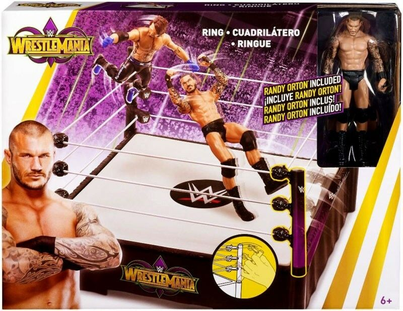 WWE Wrestling WrestleMania 34 Ring 6-Inch Playset [Randy Orton Action Figure]