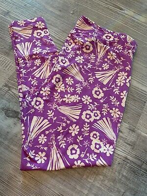 TC2 Lularoe Leggings NEW PRINT Solid Neon Violet Purple NWT