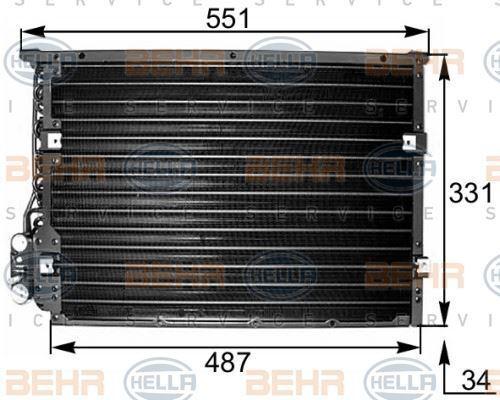 8FC 351 036-221 HELLA Condenser  air conditioning