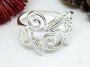Blumen-Blaetter-925-Silberring-Blume-Rose-Ring-Silber-versch-Groessen