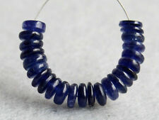 5mm. Translucent Natural Blue Sapphire Smooth Rondelle Gemstone Beads (13050)