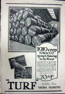 Original Old Vintage Print 1923 Advertisement Turk Virginia Cigarettes Tobacco
