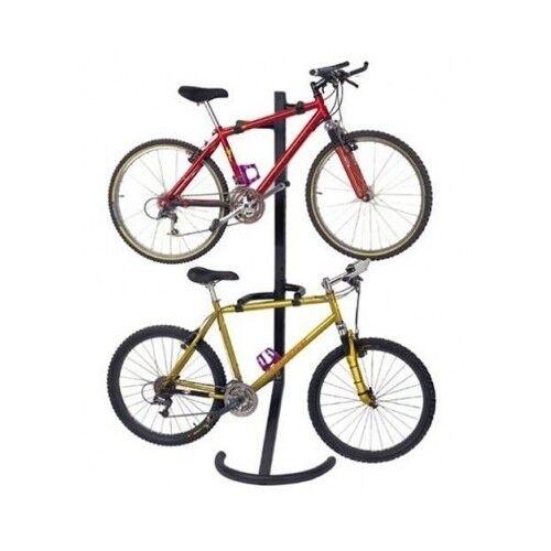 Two Bike Stand Storage Rack Garage Bicycle Floor Freestanding Home Pro Organizer