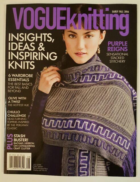 Vogue Knitting Early Fall 2016 Ebay