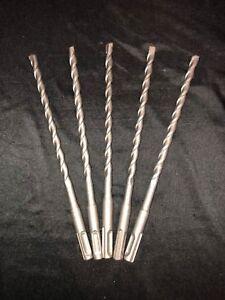 """Qty 2 SDS Rotary Hammer Drill Bits 5//16/"""" x 8 1//4/"""" fit Hilti Bosch DeWalt Mikita"""