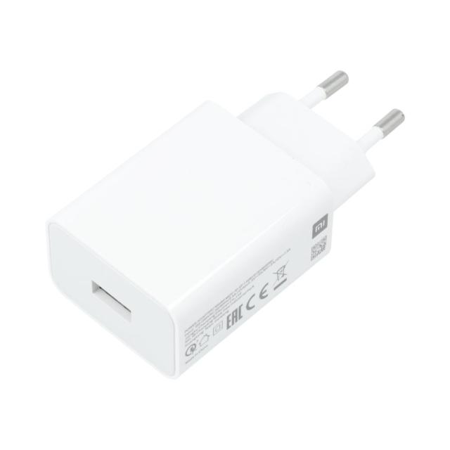 Caricatore Casa Xiaomi Originale 3A Adattativo Fast Charger MDY-10-EF Bianco Ric