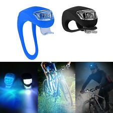 Outdoor Sports Bike Bicycle Silicone Head Front Rear LED Flash Light Motion Lamp