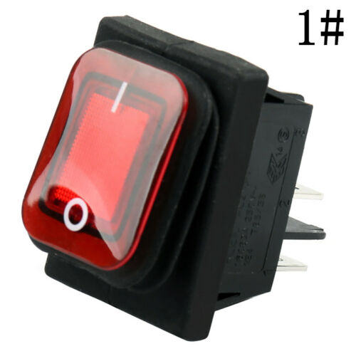 1x 12V Car Boat ON//OFF  4 Pin Rocker Toggle Switch Waterproof Selling Red// Zccj