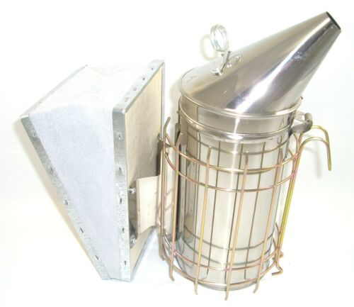 Stainless Steel Smoker Beekeeping Tool Package Red Hive Tool /& Bee Brush