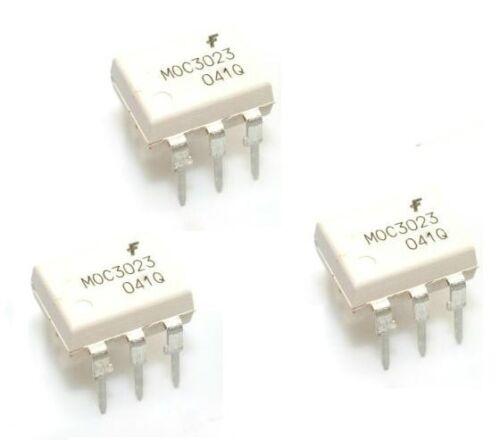 100PCS MOC3023 OPTOCOUPLER TRIAC-OUT 6-DIP FSC NEW GOOD QUALITY