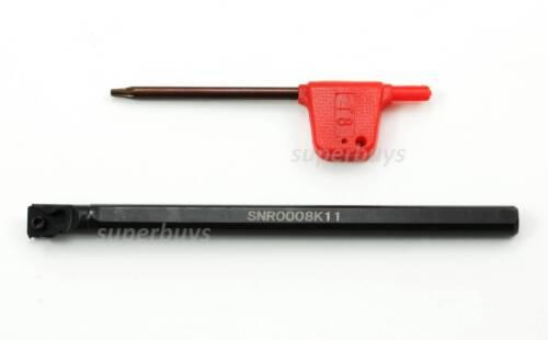 SNR0008K11 Lathe Thread Threading Turning Tool Boring Bar Holder 11 IR T8 Wrench