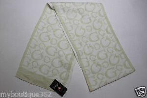 GUESS-LADIES-WOMENS-MILK-MULTI-SIGNATURE-SCARF-NEW-WITH-TAG