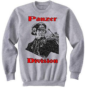 PANZER-DIVISION-OFFICIER-ALLEMAND-WWII-Neuf-en-coton-gris-sweat