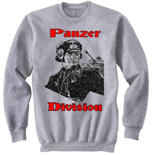 PANZER DIVISION OFFICIER ALLEMAND WWII-Neuf en coton gris sweat