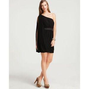 AQUA-Black-Draped-Chiffon-Grecian-One-Shoulder-Shift-Party-Dress-10-NEW-168
