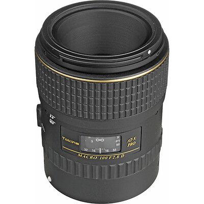 Tokina Telephoto 100mm f/2.8 AT-X M100 AF Pro D Macro Autofocus Lens f/ Nikon AF