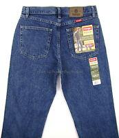 Wrangler Jeans Regular Fit Mens Size 32 X 34 Dark Stonewash Straight Leg