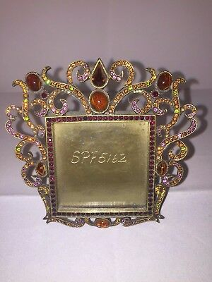 Jay Strongwater RARE Mini Square Jeweled Easel Back Frame 4\