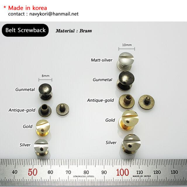 Button Stud Screwback Leather Belt Chicago Screw nail rivet multi color & size