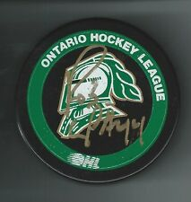 Robbie Rob Schremp Signed London Knights Puck New York Islanders
