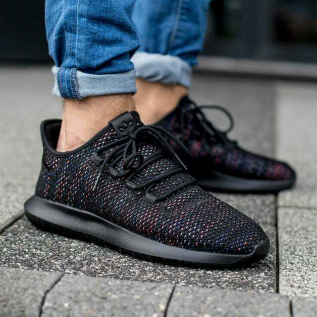 reputable site 98935 f23da Adidas Men's Originals Tubular Shadow Shoes, US 9, Core Black/ Solar Red/Ink