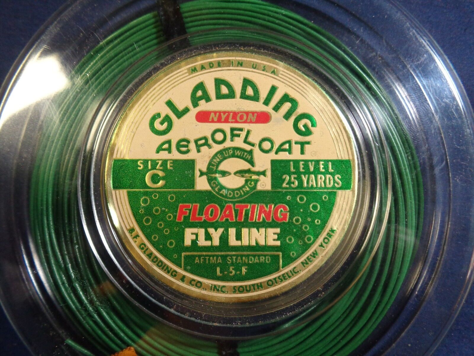 Vintage  Floating Fly Line  GLADDING AEROFLOAT  Size C Green L-5-F  factory outlet store