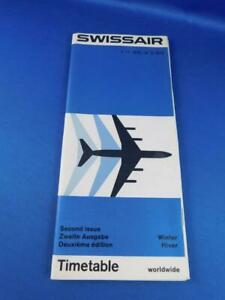 SWISSAIR-WORLDWIDE-AIRLINE-TIMETABLE-WINTER-2ND-ISSUE-NOVEMBER-1972-MARCH-1973